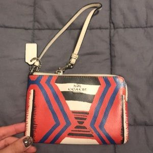 Coach tribal wristlet Excellent condition